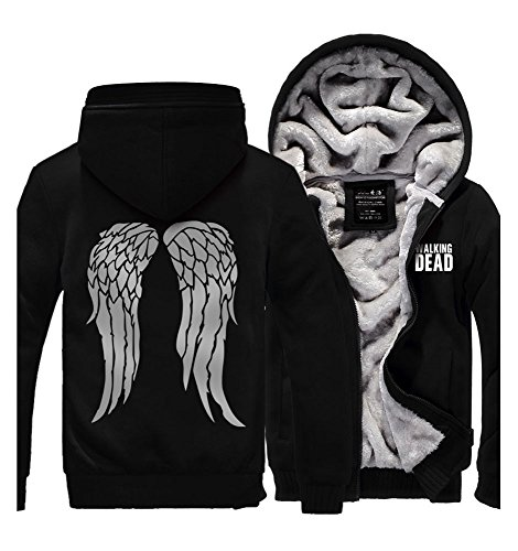 Kostüm Dead The Walking Daryl (The Walking Dead Fleece-Futter Jacke Baumwolle Mantel Windmantel)