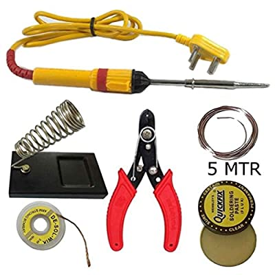 Genric 6 in 1 Soldering Iron Kit (Stand, Flux, Wire Stripper/solder, Wik)