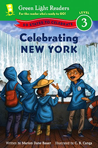 Celebrating New York: 50 States to Celebrate (Green Light Readers Level 3) (English Edition)