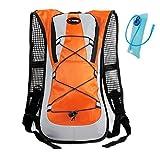 Haoyk-Sac à dos de sport 5l léger, poche d'hydratation de 2l, réfléchissant, unisexe, pour le ski, la randonnée, le vélo, l'escalade, Orange