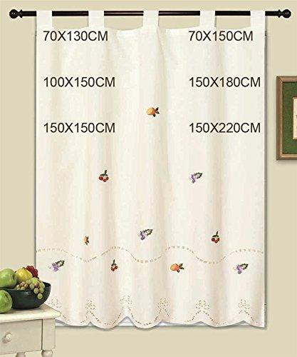 Cortinas de cocina, (1025), bordadas, 150x180cm. 1-4 cortinas paga solo un envío, descuento equivalente al finalizar la