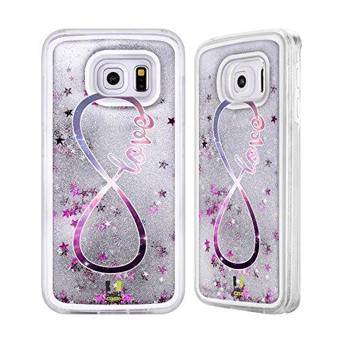 Head Case Designs Amour Infini - Collection Étui Coque Liquide Scintillez Argent pour Apple iPhone 6 / 6s Amour
