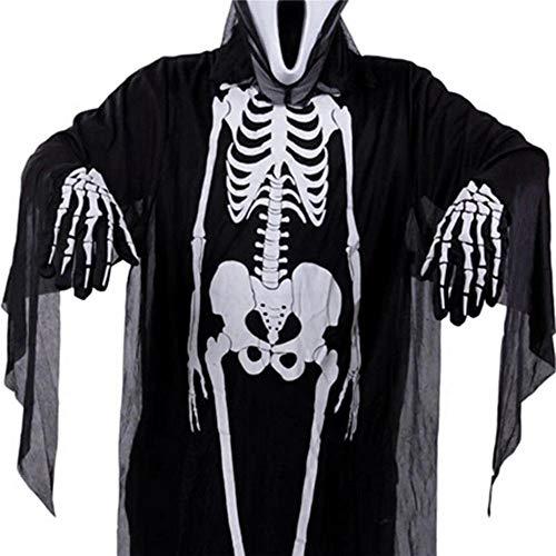 oween Party Kostüm Gruseliges Kostüm mit Headless Skull Geist Desgin für Erwachsene Unisex ()