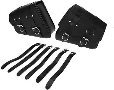 Broco 1 Paar Schwarz Motorrad Satteltasche Triangle Aufbewahrungstasche Side Werkzeugtaschen