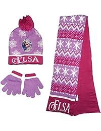 49ca5de3aff Disney Frozen Elsa Winter Hat Scarf Gloves Set