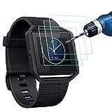 Fitbit Blaze Pellicola protettiva (3 confezioni), CAVN Premio HD chiaro temperato Bicchiere Screen Protector per Fitbit Blaze, 9H Durezza multistrato e Anti-bolla protezione schermo
