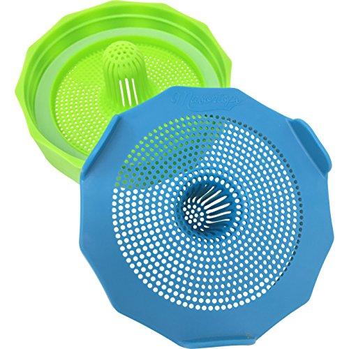 Masontops Bean Screen Plastik-Einmachglas mit Auskeim-Deckel für Mason Weithalsgläser – Pflanzen Sie Sojasprossen, Alfalfa, Salatsprossen und mehr - 2er Pack