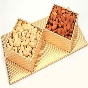 Ghasitaram Gifts Golden Dryfruit Tray
