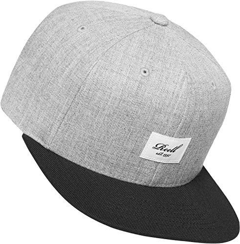 Reell Jeans Herren Snapback Caps Pitchout grau Verstellbar -