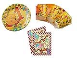 Party Deko Set 1.Geburtstag Winnie Pooh Kindergeburtstag für 20 Personen Mädchen Junge Party Geschirr