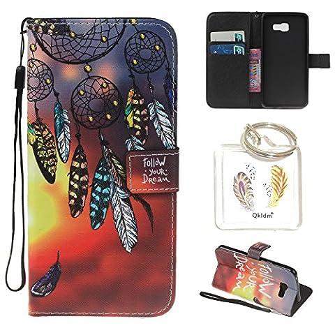 für Galaxy A3 (2016) A310 PU Silikon Schutzhülle Handyhülle Painted pc case cover hülle Handy-Fall-Haut Shell Abdeckungen für Smartphone Samsung Galaxy A3 (2016) A310 + Schlüsselanhänger(/Q) (7)