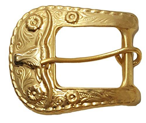 """Modestone Unisex Golden Bull Head Western Style Gürtelschnalle 1"""" Belt Width Gürtelschnalle Bull Riding"""