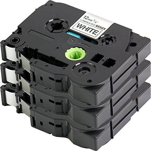 3x Kennzeichnung Tape kompatibel zu Brother TZe-231/TZ-231| schwarz auf weiß/12mm x 8m | geeignet für Brother P-Touch 1000W 101010901830VP 2030VP 2100VP 2430PC 24702730VP 7100vp7600vp H100R H300D200VP und andere P-Touch LabelWriter