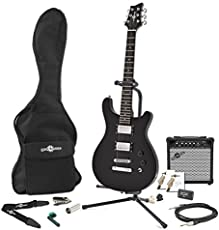 Pasadena Electric Guitar by Gear4music + Complete Pack Black