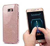 NWNK13Ž High Quality Soft Slim Shockproof 360° Protective Front and Back Full Body TPU Silicone Gel Case Cover With Card Organiser For Samsung Galaxy Series (Samsung Galaxy S7, Rose Bling)