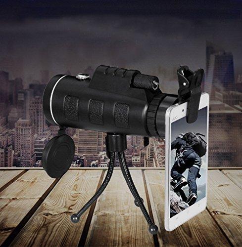 40x 60HD Monokular night vision Wasserdicht Dual Focus Optik Teleskope mit Dreiecksstütze Kompass ideal für Reisen Outdoor Jagd Camping Live Concert kann HD Fotos mit Handys