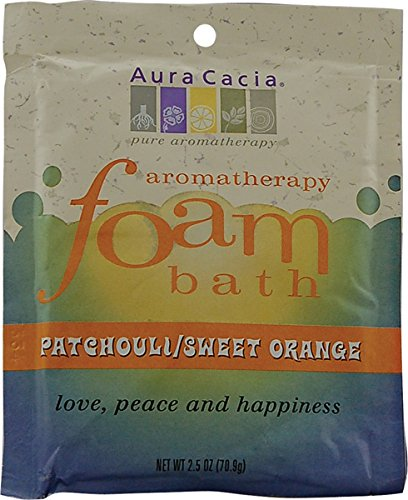 Aura Cacia Patchouli Sweet (Aura Cacia Patchouli und Sweet Orange, Aromatherapie Schaumbad, 2,5 Ounce - 6 pro Fall.)