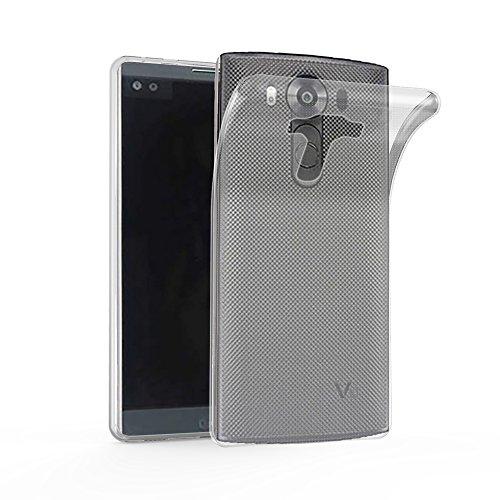 Cadorabo Hülle für LG G4 PRO - Hülle in VOLL TRANSPARENT – Handyhülle aus TPU Silikon im Ultra Slim 'AIR' Design - Silikonhülle Schutzhülle Soft Back Cover Case Bumper
