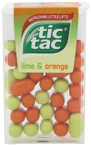 24 x Tic Tac Lime & Orange 18g (Tic Tac Süßigkeiten)