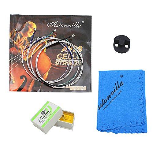 Almencla 4 Pezzi Di Accessori Per Violoncello Corde Di Gomma Mute Pulizia Del Kit Di Pulizia Colofonia