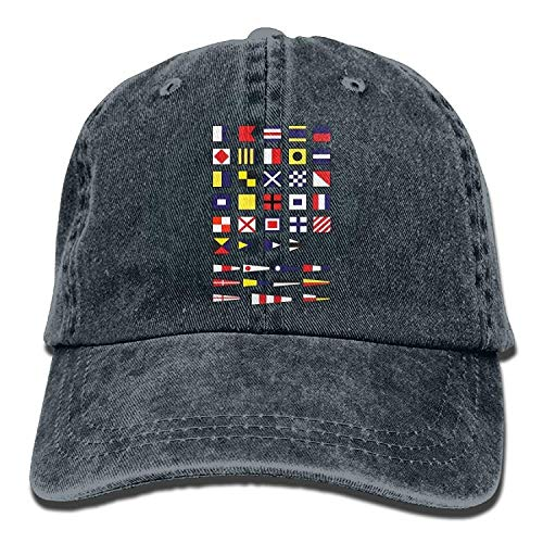 Preisvergleich Produktbild Nautical Alphabet Maritime Signal Flags,  Sailing Navy Yachting Adult Unisex Unisex Cowboy Cap