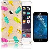 iPhone 6S Plus Case (5.5), Bonice iPhone 6 Plus Custodia, Trasparente Ultra Slim Thin Morbido Crystal Clear Cover + 1x Protezione Schermo Screen – ghiacciolo