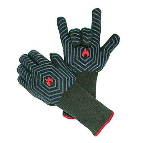 labara BBQ Grilling Cooking Gloves 933F Oven Mitts Gloves for Cooking Baking Barbecue Potholder