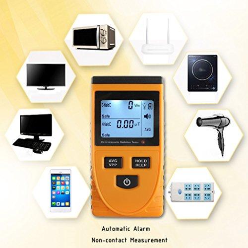 Weishazi EMF-Messgerät, digital, elektromagnetische Strahlungsdetektor, LCD-Dosimeter Digital Lcd Vcr