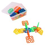 #7: IndiPlay shape links DIY building blocks toy set for kids