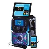 Daewoo Bluetooth Portable Karaoke Machine with 2 Wired Microphones, 5 inch Digital LCD