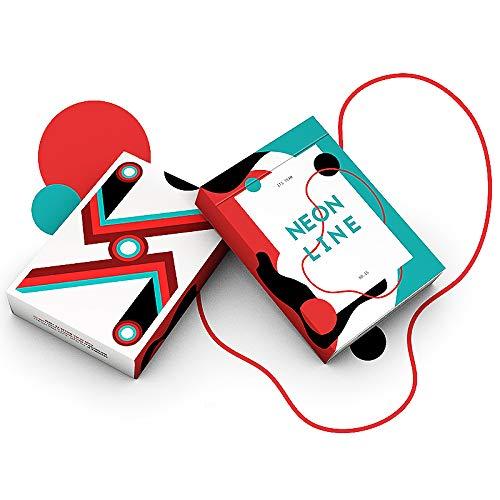 Neon Line LuxTri Sonderedition Look and Feel Playing Cards, Pokerspielkarten, + 3 Look and Feel Karten Gratis | Premium | Sammler Collectors | Casino Feeling | Deckkartenspiele Spielkarten -