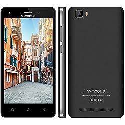 Smartphone Telefoni,8Pcs 5.0 Pollici 8GB ROM,2800mAh Batteria Removibile,Dual Sim Android 7.0 CPU 4 Core, Fotocamera da 5 MP,WIFI/Bluetooth/FM Radio V Mobile A10 Offerta Cellulare, Nero
