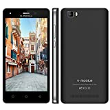 Moviles Libres Baratos 4G V mobile A10 8GB ROM Smartphone Baratos Libres 5 '' HD Android 7 Quad Core Cámara Doble 5MP 2MP Telefono Movil Libres Baratos Batería 2800mAh GPS Bluetooth WIFI (Negro)