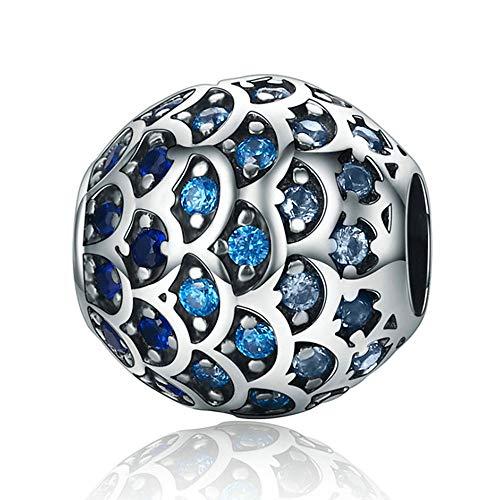 ANLW Frau Charms Perlen Tochter des Meeres Pendant fit Pandora 925 Sterling Silber für Mutter es Day Perlen Charms