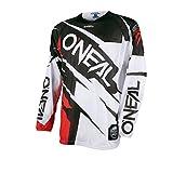 O 'Neal Hardwear Jersey Flow Jag Blanco Rojo Cross Moto Camiseta Motocross Enduro, 0032h de 70, color rojo y blanco, tamaño extra-large