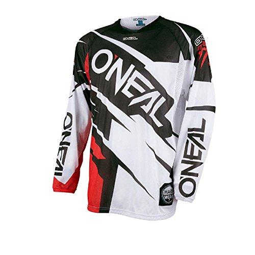 O'Neal Hardwear Jersey Flow Jag Weiß Rot Cross Motorrad Trikot Motocross Enduro, 0032H-70, Größe M (Flow Jersey Bike)
