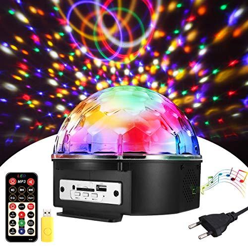 LED Discokugel Kinder Partylicht Disco Lichteffekte 18x18x15CM mit Fernbedienung Discolicht Projektor Beleuchtung für Party Wohnzimmer Kinder Spielzeug Feier Karaoke Geburtstag ()