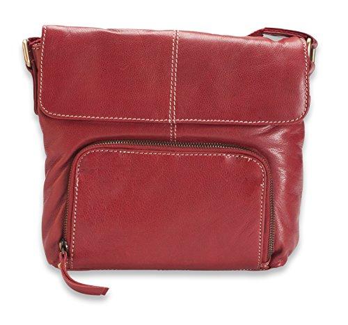 Brunhide Borsa tracolla, a spalla e a mano uso quotidiano in vera pelle # 118-300 Rosso