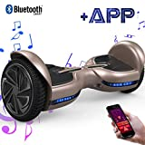 EverCross Hoverboard Diablo 6,5' Smart Skateboard Électrique Bluetooth Scooter Certifié CE de Boutique GyroGeek (Or)