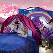 Nifogo Tende da Sogno Bambini Bed Tent - Magical World Tents, Kid's Fantasia Casa, Caldo Bambini Tenda Regalo (a- Unicorno)