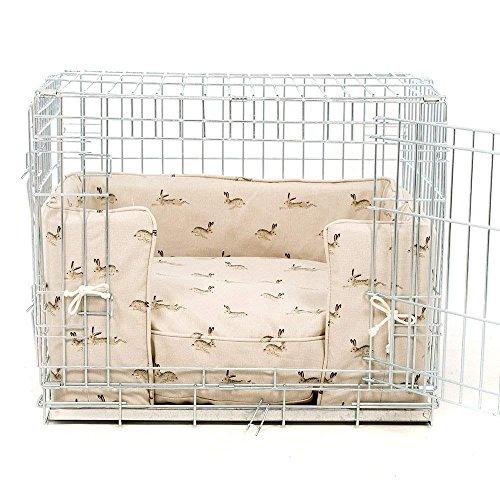 Lords & Labrador Hund Box Bumper Set in Sophie Allport Hase Designer Stoff mit Ellie-Bo Box (enthält ein Hundekäfig, Kiste Bumper und Kissen)