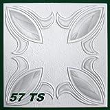 10 m2 Deckenplatten Styroporplatten Stuck farbige Platten 50x50cm, Nr.57 TS