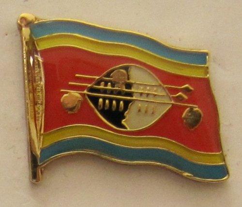 Swasiland Pin Anstecker Flagge Fahne Nationalflagge Flaggenpin Badge Button Flaggen Clip Anstecknadel