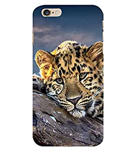 99Sublimation Resting Leopard 3D Hard Polycarbonate Back Case Cover for Apple iPhone 6