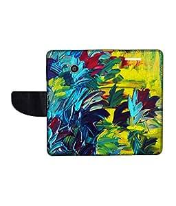 KolorEdge Printed Flip Cover For Motorola Moto E -Multicolor (43KeMLogo10479MotoE)