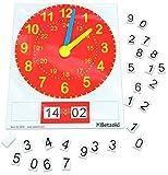 Betzold 82181 - Tafel-Uhr magnetisch, analoge und Digitale Zeitdarstellung,...