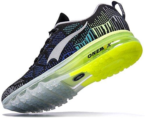 Onemix Air Scarpe da Ginnastica Uomo Sportive Running Sneakers Fitness Interior Casual Nero/Grigio