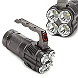 ECHTPower Super Hell 4x CREE XML L2 6800Lm LED Taschenlampe Flashlight Torch Scheinwerfer Silber