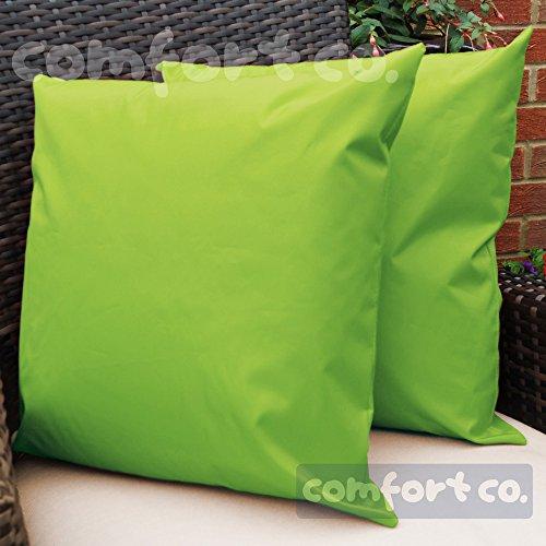 Komfort CO Outdoor Wasserdicht Faser gefüllt Garten Kissen für Stühle/Sitze und Bänke–Lime Grün (Wasserdichte Outdoor Patio Kissen)
