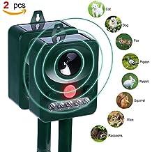 Repellente per Gatti, Konsait repellente cani ultrasuoni Animale Repeller a Energia Solare esterno Impermeabile giardino abschreckungs Repeller per Scaccia Gatti Cani Volpi Topi Uccelli